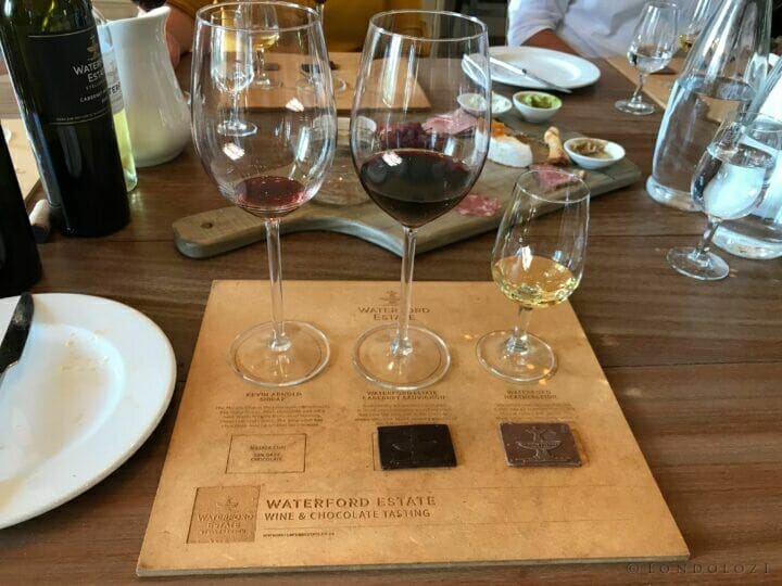 chocolate and wine at Waterford, what more could a girl want?