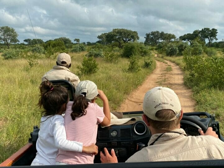 Girls Embrace Landrover Game Drive