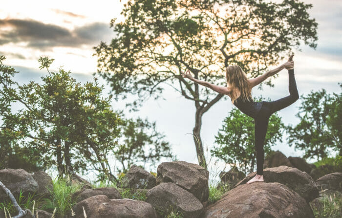 Yoga in the wilderness at Londolozi
